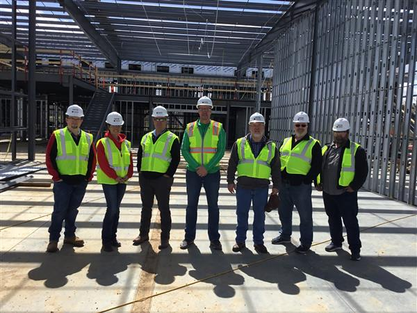 Staff photo at the construction site