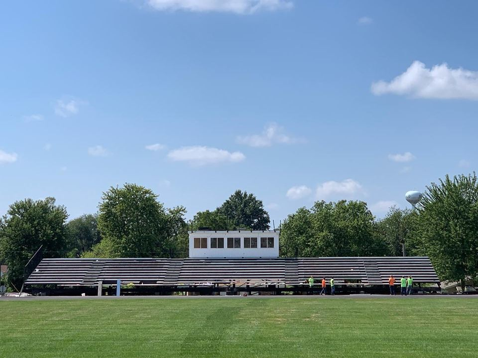 Photo of the football stands