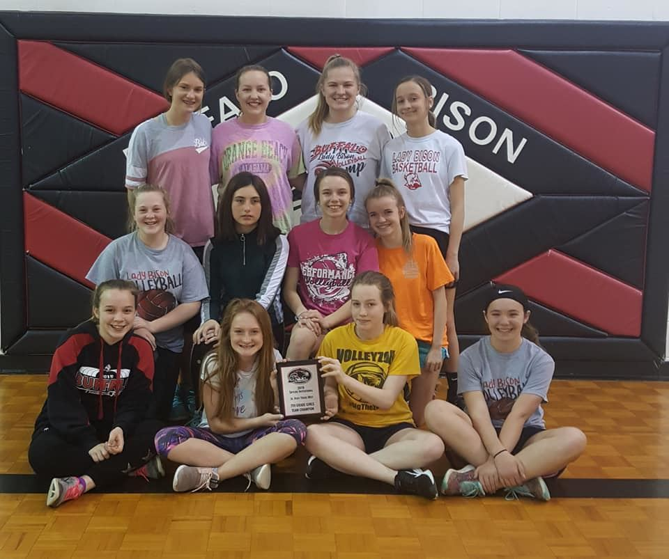 Girls track team photo