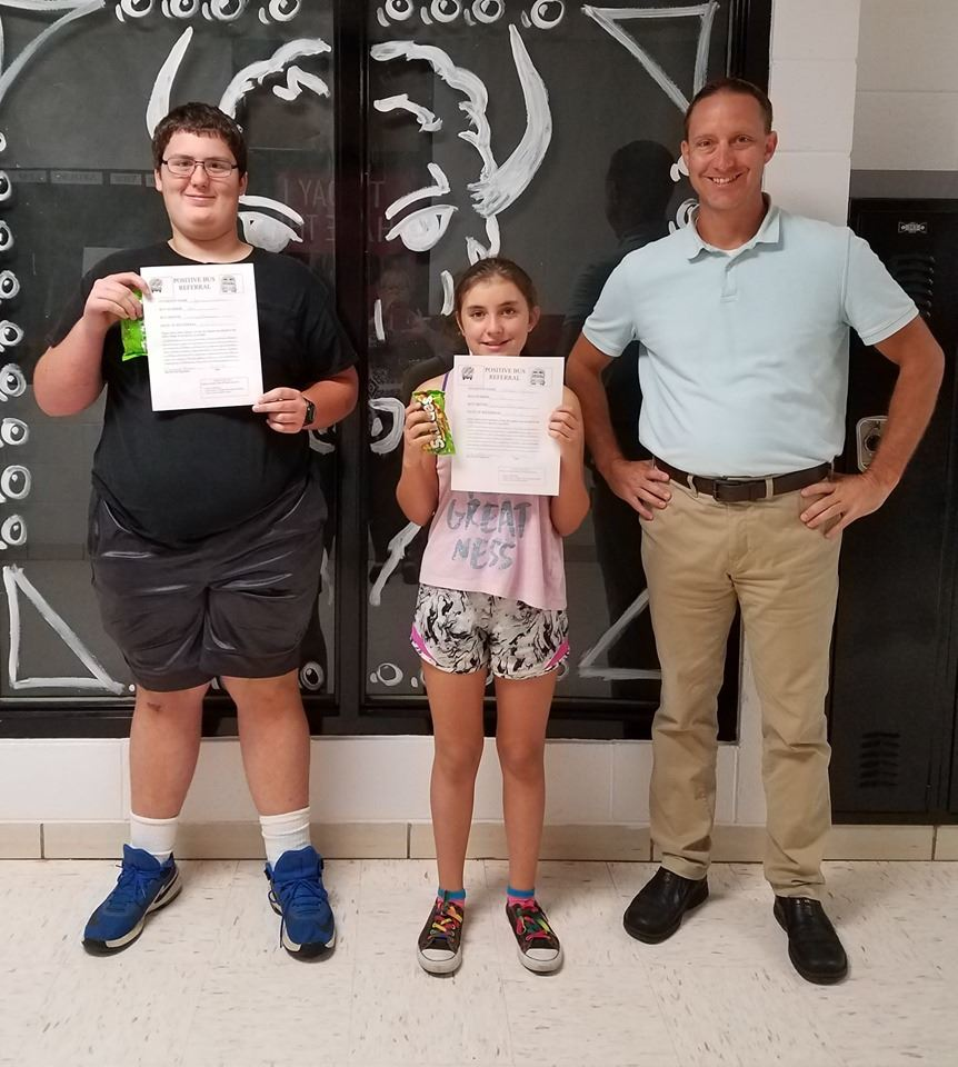 Students pictured with Mr. Margreiter